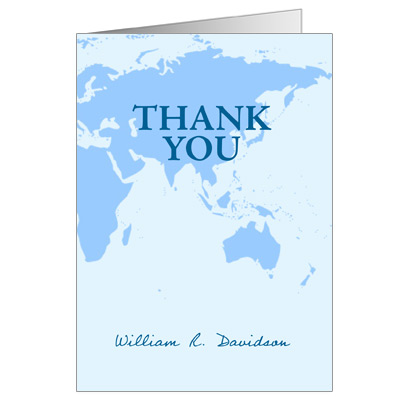 Passport Bar Mitzvah Thank You Card