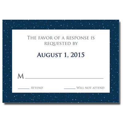 Shining Stars Bar Mitzvah Response Card