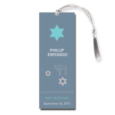 Six Points Bar Mitzvah Bookmark