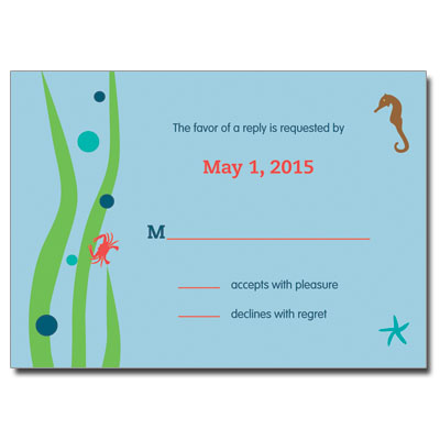 Under the Sea Bar Mitzvah Response Card