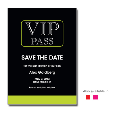 VIP Save the Date Bar Mitzvah Card