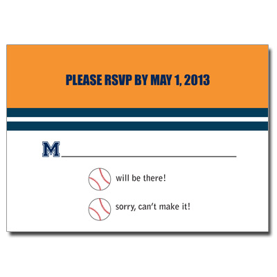 Baseball Ticket Bar Mitzvah Response Card