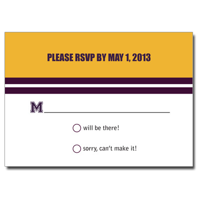 Baseball Ticket Bat Mitzvah Response Card