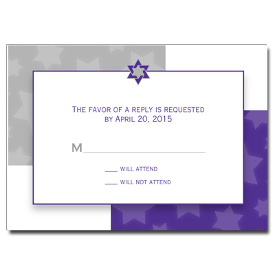 Indigo Star Bar Mitzvah Response Card
