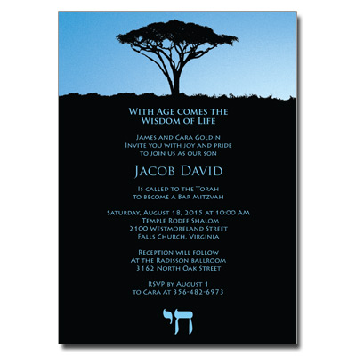 Life Bar Mitzvah Invitation