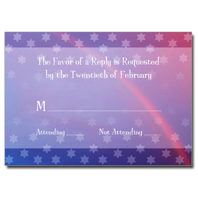 Rainbow Purple Bat Mitzvah Response Card