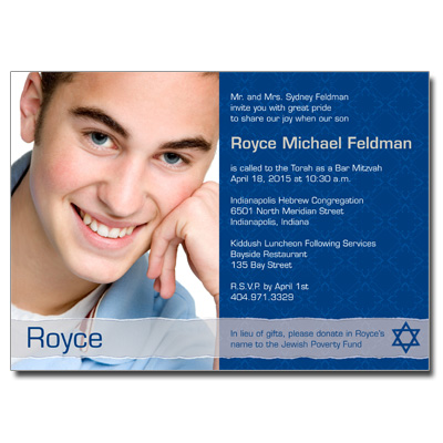 Royal Elegance Bar Mitzvah Invitation
