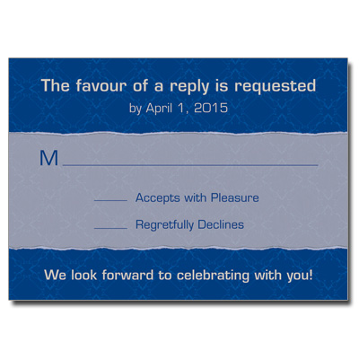 Royal Elegance Bar Mitzvah Response Card