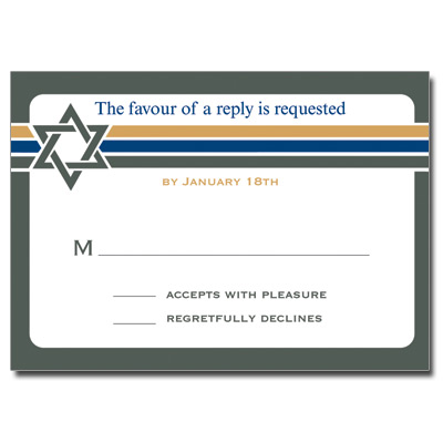 Stripes Bar Mitzvah Response Card